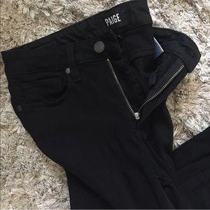 PAIGE black high waisted jeans